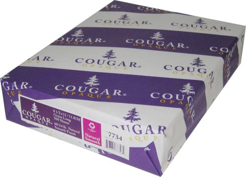 Limited Papers TM Cougar Opaque Cover White Smooth 80 Pound Cover 8.5″x11″ 250 sheets