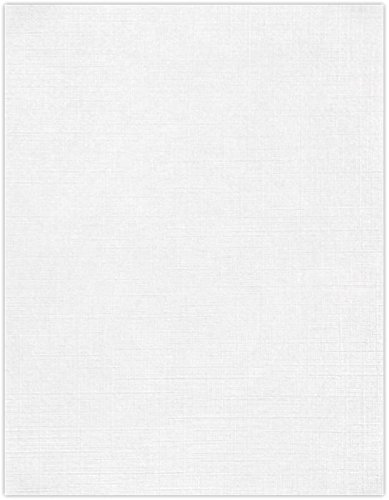 LUXPaper 8.5″ x 11″ Cardstock for Crafts and Cards in 100 lb. White Linen, Scrapbook Supplies, 50 Pack White