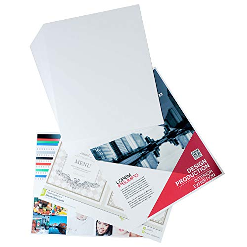 Printerry White Cardstock Paper 8 x 10 Inches 50 Sheets 80lb Cover, 220gsm, Blank