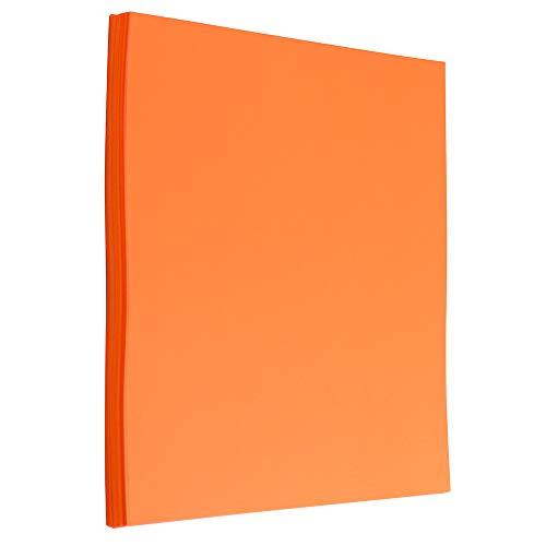 Ultra Orange – 8.5 x 11 – 50 Sheets/Pack – JAM PAPER Colored 24lb Paper
