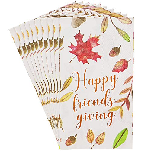 Sparkle and Bash Friendsgiving Thanksgiving Paper Napkins 50 Pack