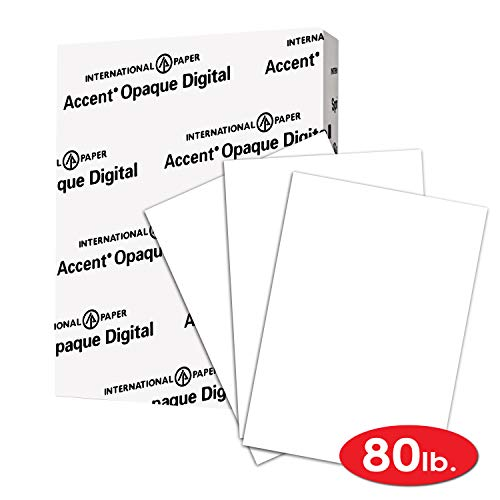 Super Smooth, Heavy Card Stock 121962R – Accent Opaque Thick Cardstock Paper, White Paper, 80lb Cover, 216 gsm, 11×17, 97 Bright, 1 Ream / 250 Sheets
