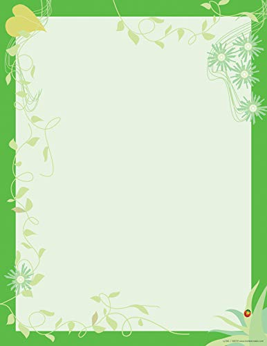 Barker Creek – Office Products 8-1/2 x 11″ Designer Computer Paper, Go Green, 50-Sheets LL-724