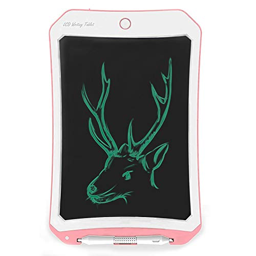 Spring&8.5 inch Writing &Drawing Board Doodle Board Toys for Kids, Birthday Gift for 4-5 Years Old Kids & Adults Color LCD Writing Tablet with Stylus Smart Paper Pink-white-d