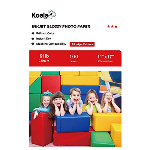 Koala Photo Paper High Glossy 11×17 Inches 230gsm 100 Sheets Compatible with All Inkjet Printer