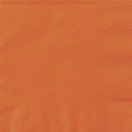 Orange Paper Napkins, 20ct