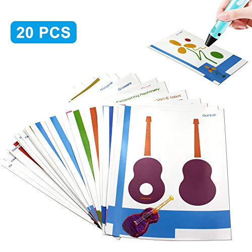 3D Printer Drawing Paper,SHONCO Design Paper Molds for 3D Drawing Paper Models for Practice 20pcs