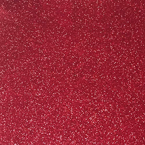 Perfect for Scrapbooking, Crafts, Decorations, Weddings – Sized 12″ x 12″ – 10 Sheets Premium Glitter Paper – Red Glitter Cardstock