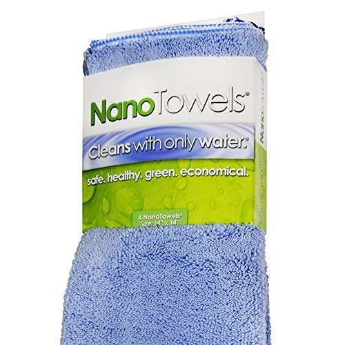 Amazing Eco Fabric That Cleans Virtually Any Surface with Only Water. No More Paper Towels Or Toxic Chemicals. 14×14, Nano Blue – Life Miracle Nano Towels