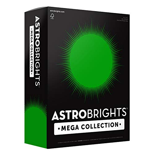More Sheets! – Astrobrights Mega Collection Colored Cardstock, 8 ½ x 11, 65 lb/176 GSM, Ultra Green, 320 CT. 91678″Amazon Exclusive""
