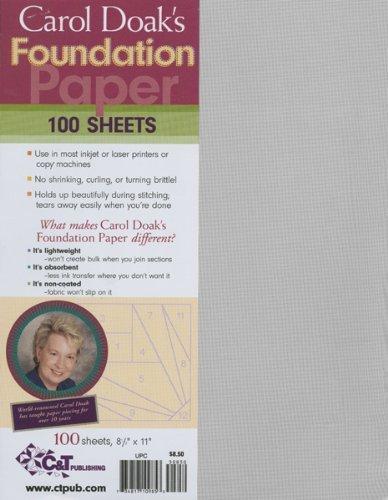 C&T Publishing 10985 Carol Doaks Foundation Paper-8-1-2 in. x 11 in. 100-Pkg