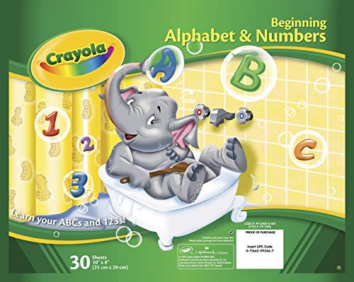 Crayola Alphabet Pad, Tracing Worksheets, 30 Pages
