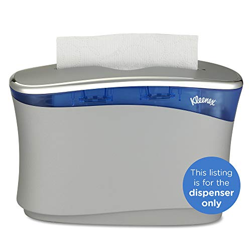 Kleenex Reveal Countertop System Dispenser 51904, 13.3″ x 9″ x 5.2″, Fits Select Kleenex Folded Paper Hand Towels, Soft Grey, 1 / Case Compatible only with Kleenex Reveal Multifold Hand Towels KC Item Number 46321 and Kleenex Premiere Folded Towels KC Item Number 13253