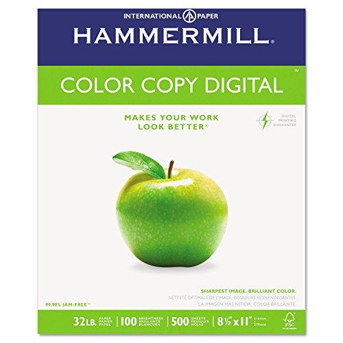 Hammermill 102630 Copy Paper, 100 Brightness, 32lb, 8-1/2 x 11, Photo White, 500/Ream