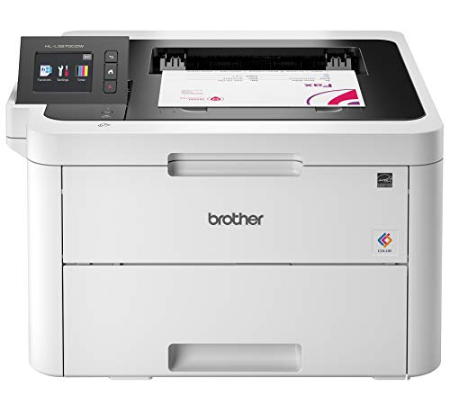 Brother HL-L3270CDW Compact Wireless Digital Color Printer with NFC, Mobile Device and Duplex Printing – Ideal for Home and Small Office Use