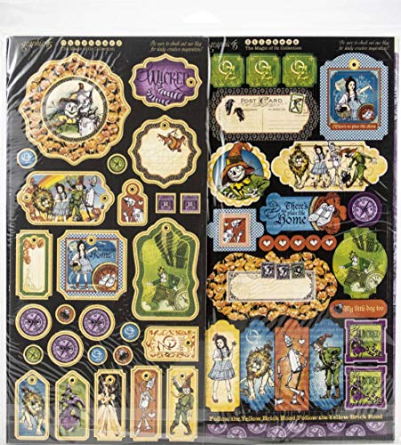 Graphic 45 4501899 Magic of Oz Deluxe Collector's Edition Craft Paper, Multi