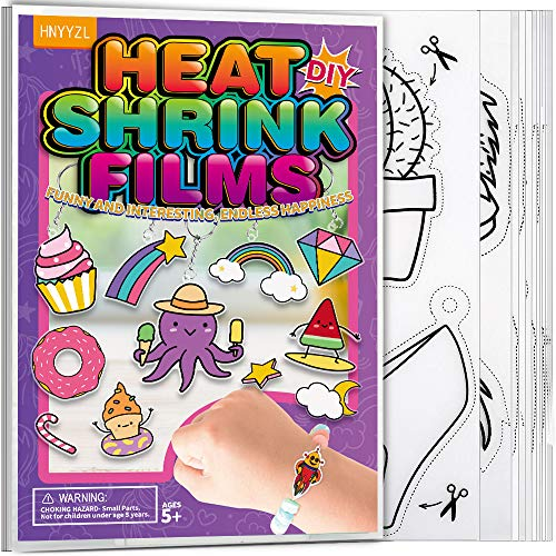 HNYYZL Shrink Art Sheets, 20 Pack Blank Transparent White Heat Shrink Papers and Frosted Plastic Traceable Patterns Shrink Films, Fit for DIY Craft, Parents Childs Campaign, Creative Art Class