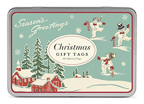 Cavallini Papers & Co., Inc. Christmas Winter Wonderland Glittered Gift Tag Set
