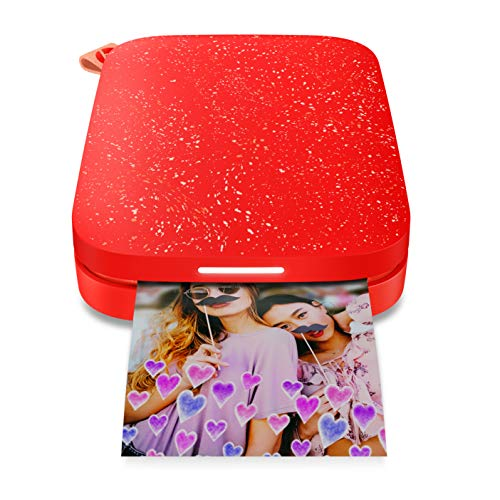 HP Sprocket Portable Photo Printer 2nd Edition Cherry Tomato & Sprocket Photo Paper, Sticky-Backed 20 sheets