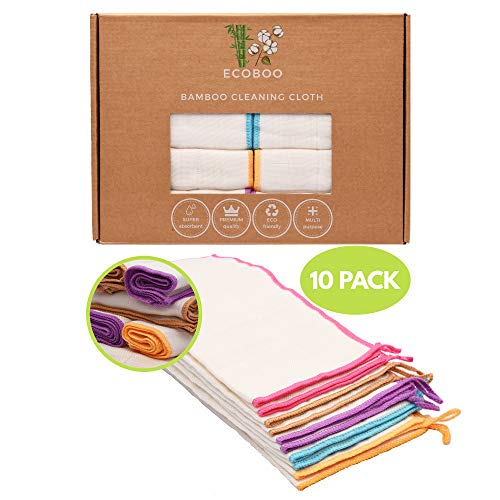Reusable Bamboo Towels | Kitchen Unpaper Towel | Eco-Friendly Paper Towel Alternative | Baby Organic Wipes | Unbleached Cleaning Cloth | Washable Napkins | Thick&Strong Kitchen Roll