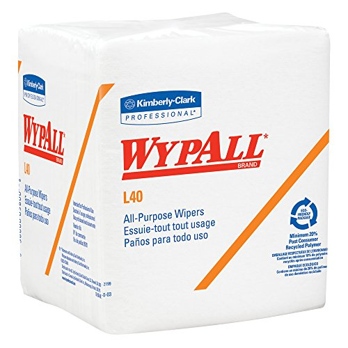 WypAll L40 Disposable Cleaning and Drying Towels 05600, Limited Use Towels, White, 12 Packs per Case, 56 Sheets per Pack, 672 Sheets Total