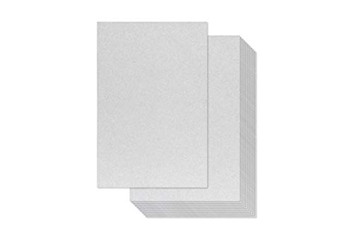 30-Pack Glitter Paper for DIY Craft Projects, Birthday Party Decorations, Scrapbook, Double-Sided, 110 lb Cover Stock, 8 x 12 inches – Silver Glitter Cardstock