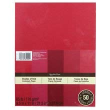 Recollections Cardstock Paper, 5 Shades of Red 8 1/2 x 11