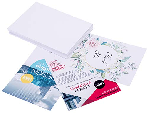 Printerry White Cardstock Paper 8.5 x 11 Inches 50 Sheets 80lb Cover, 220gsm, Blank