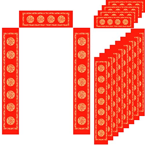 Zhanmai 5 Sets Blank Chinese Couplet Chun Lian Spring Festival Couplets Paper for Happy New Year