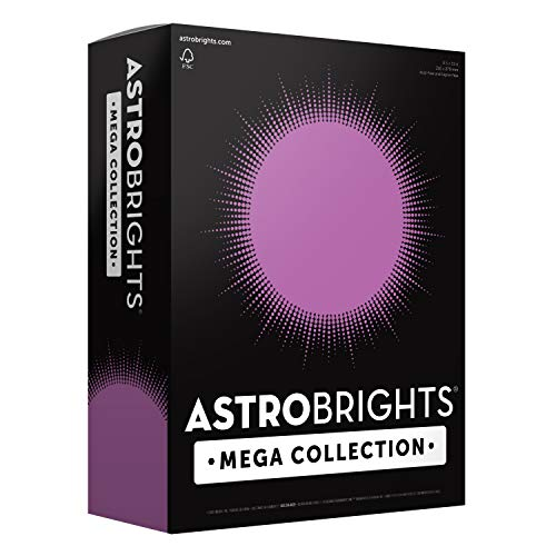 """More Sheets! – Astrobrights Mega Collection Colored Cardstock, 8 ½ x 11, 65 lb/176 gsm, Bright Purple, 320 CT. 91697″Amazon Exclusive"""""""
