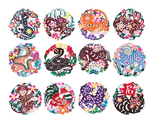 Chinese Color Handmade Paper-Cut Zodiac – Shayier China Intangible Cultural Heritage