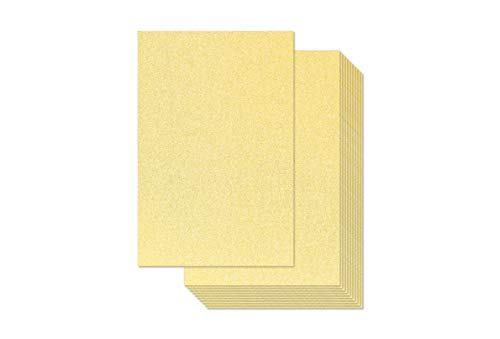 Gold Glitter Cardstock – 30-Pack Gold Glitter Paper for DIY Craft Projects, Birthday Party Decorations, Scrapbook, Double-Sided, 110 lb Cover Stock, 8 x 12 inches
