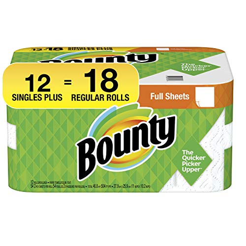 Bounty 2-ply Paper Towel Giant Rolls, 11″ X 10 1/4″, White , 20 Fluid Ounce