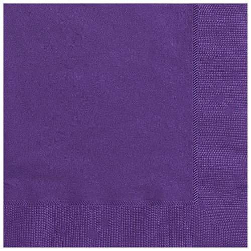 Dark Purple Paper Napkins, 50ct