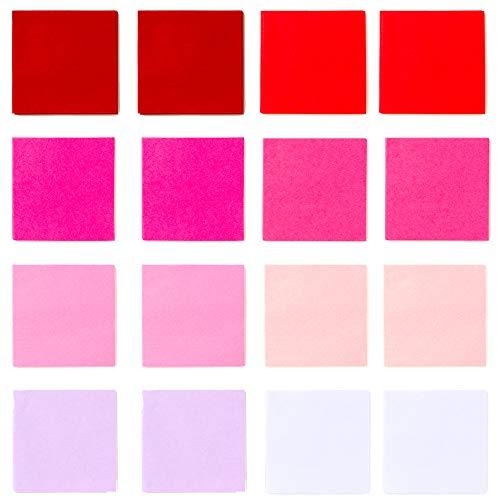 Exquiss 1200 Pcs 8 Valentine's Day Multicolor Tissue Paper Bulk Wrapping Tissue Paper 2 x 2″ DIY Art Craft for Kids Classroom Valentine Birthday Love Heart Suncatchers Wreath Paper Pom Pom