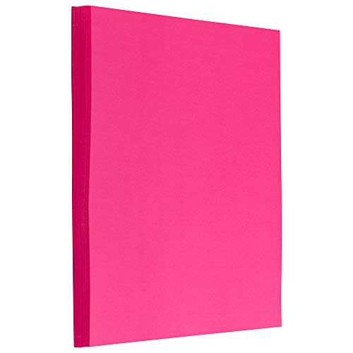 Ultra Fuchsia Pink – 50 Sheets/Pack – JAM PAPER Colored 24lb Paper – 8.5 x 11