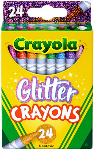 Crayola Glitter Crayons, Back to School Supplies, 24Count