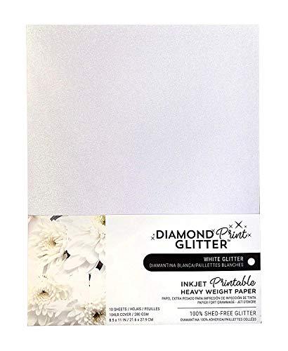 Inkjet Printable White Glitter Paper
