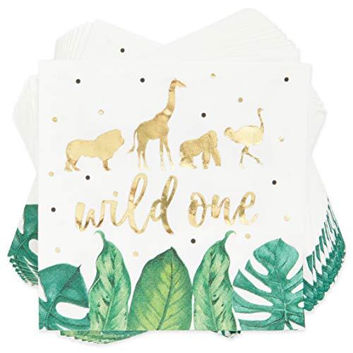 Wild One Safari Birthday Party Paper Napkins 50 Pack