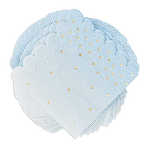 Sparkle and Bash Ombre Blue Party Napkins, 100 Pack, 5 Inches
