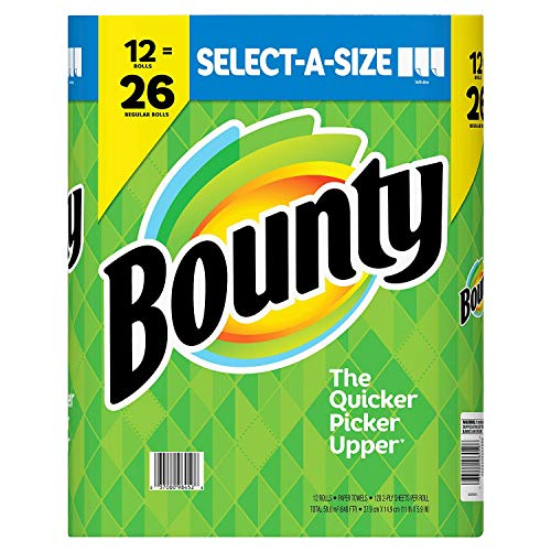 Bounty Select A Size Paper Towels, 12 Mega Rolls