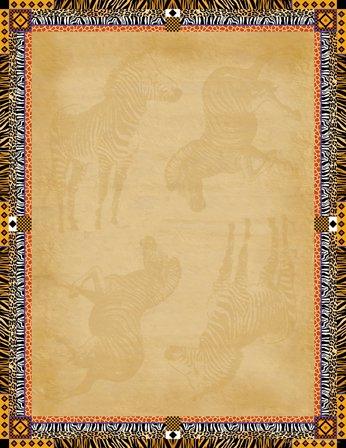 Barker Creek 8-1/2 x 11″ Designer Computer Paper, Africa, 50-Sheets LL-721