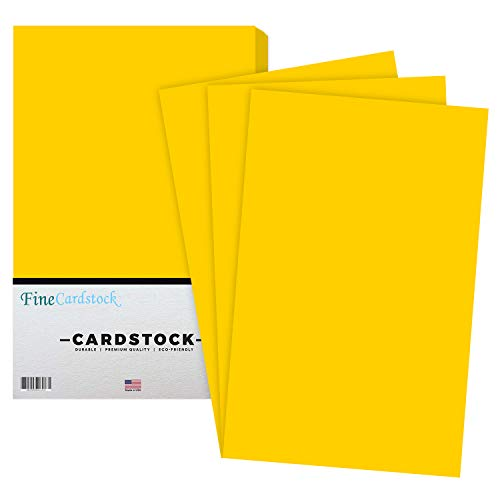 Premium Color Card Stock Paper | 50 Per Pack | Superior Thick 65-lb Cardstock, Perfect for School Supplies, Holiday Crafting, Arts and Crafts | Acid & Lignin Free | Sunburst Yellow | 11 x 17