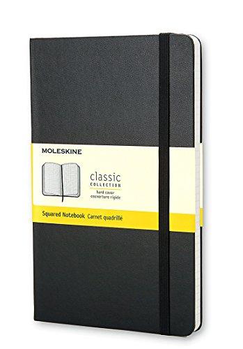 Moleskine Classic Notebook, Large, Squared, Black, Hard Cover 5 x 8.25 Classic Notebooks