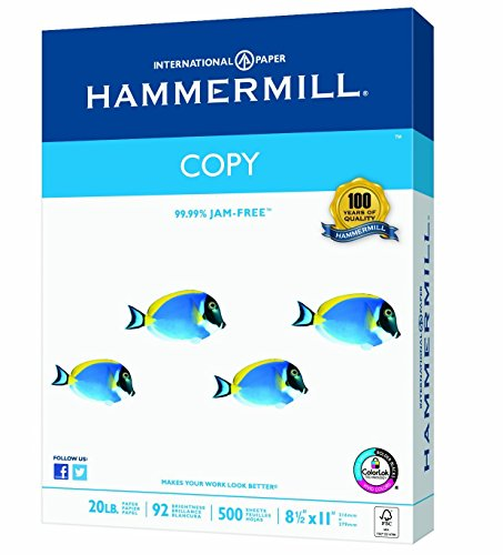 Hammermill Paper, Copy Poly Wrap, 20lb, 8.5 x 11, Letter,  92 Bright, 400 Sheets / 1 Ream 150200R, Made In The USA