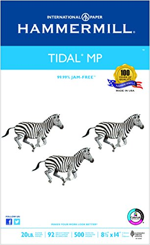 Hammermill Paper, Tidal MP, 20lb, 8.5 x 14, Legal, 92 Bright, 500 Sheet / 1 Ream 162016, Made In The USA