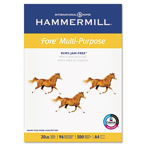 Hammermill Paper, Fore MP, 20lb, 210mm x 297mm 8-3/10″ x 11-7/10, A4, Bright, 500 Sheets / 1 Ream 103036, Made in the USA