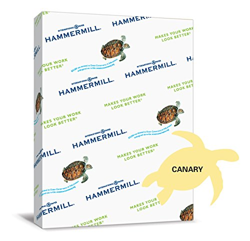 Hammermill Paper, Colors Canary, 24lb., 8.5×11, Letter, 500 Sheets / 1 Ream, 104307R, Made In The USA