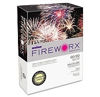 Boise Fireworx Color Copy/Laser Paper, 20 lb, Letter Size 8.5 x 11, Crackling Canary, 500 Sheets MP2201-CY