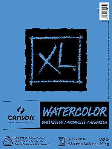 XL Watercolor Pad, 9″X12″ Fold Over